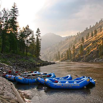 Rafts on the Main Salmon River