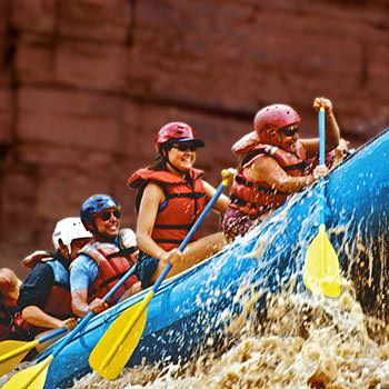 Paddle Raft in later season of Cataract Canyon