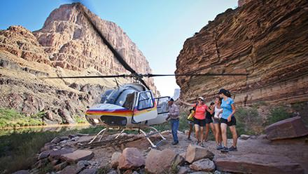 Helicopter into the Grand Canyon