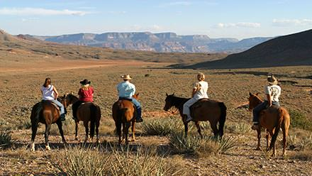 Horseback riding above the Colorado River