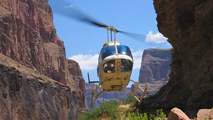 Exit Grand Canyon by helicopter