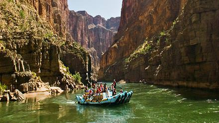 Floating deep within Grand Canyon