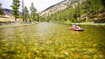 Shallow water in Middle Fork
