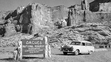 Vintage photo Arches National Monument