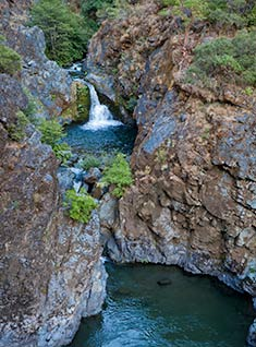 Rafting on the scenic Rogue River in Oregon