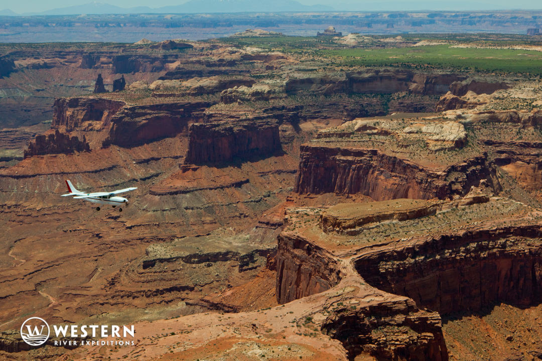 Flight over Canyonlands National Park