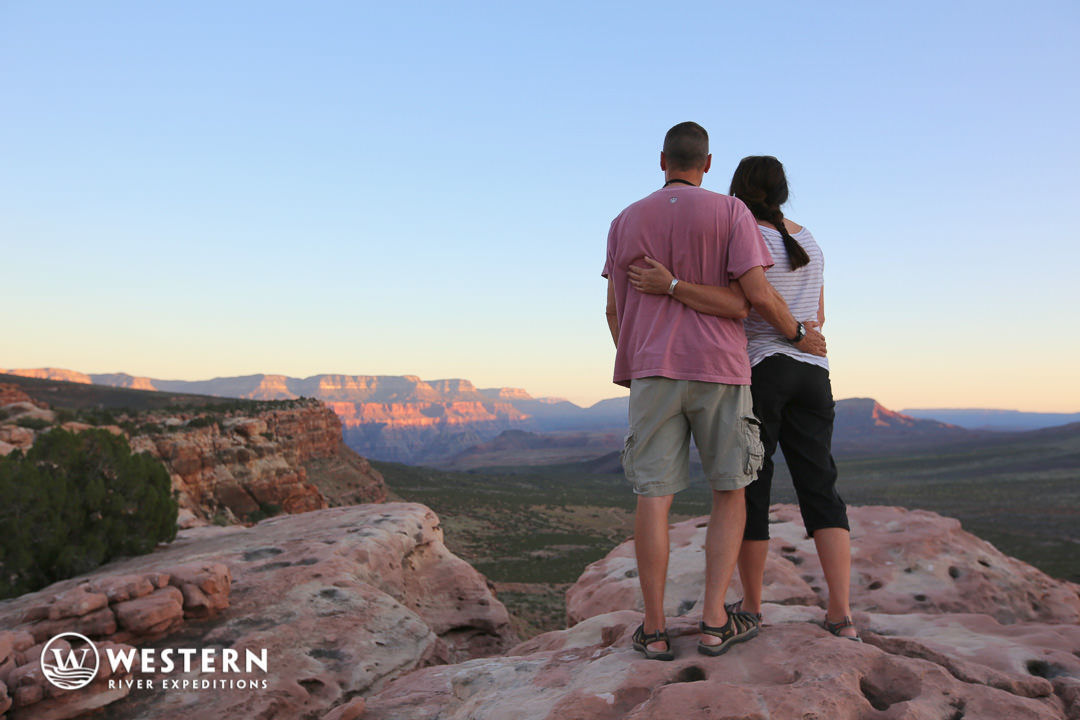 Couple at Sunset in Grand Canyon