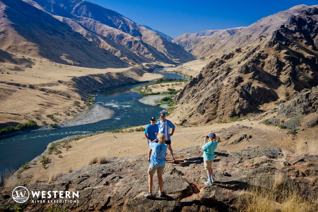 Hiking above the Snake River in Hell's Canyon
