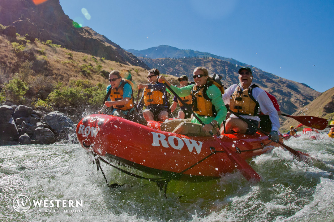 Paddling in Hell's Canyon