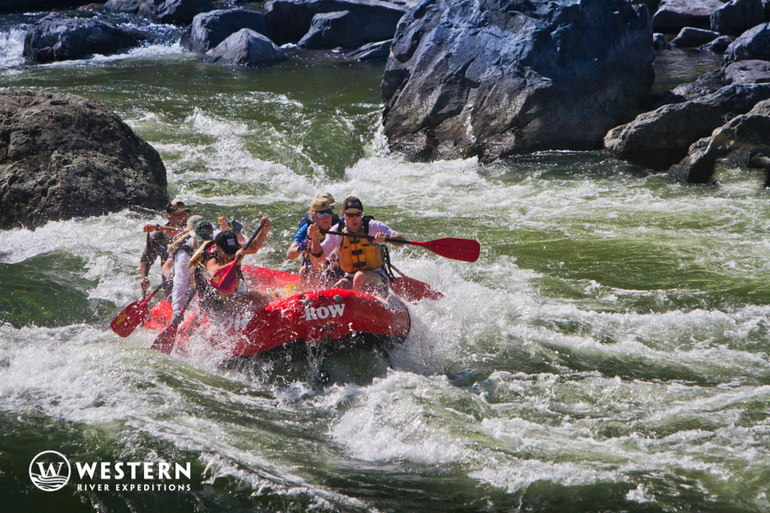Paddle raft on Snake River