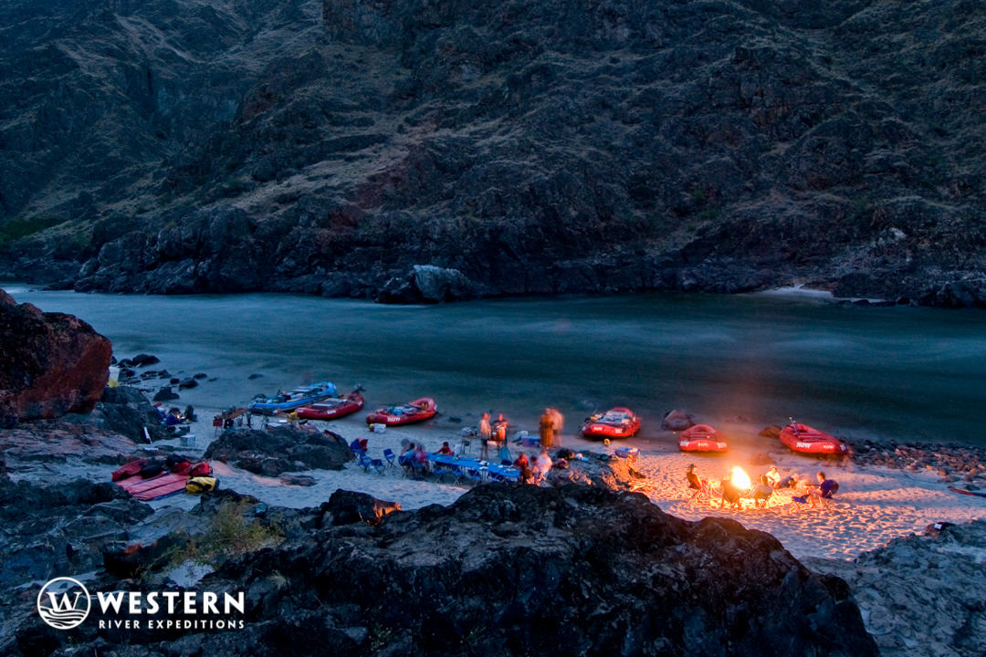 Campfire on the lower Salmon River