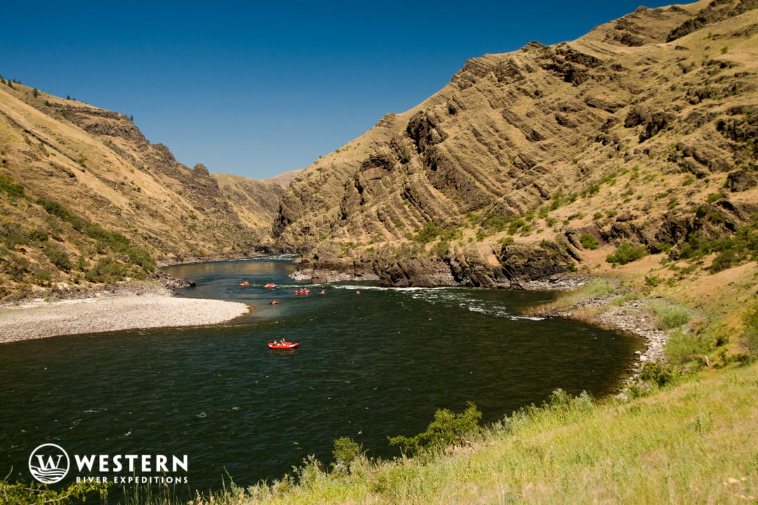 Boat on the lower Salmon River