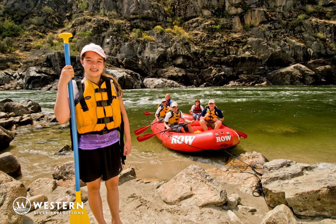Teens love rafting the lower Salmon River