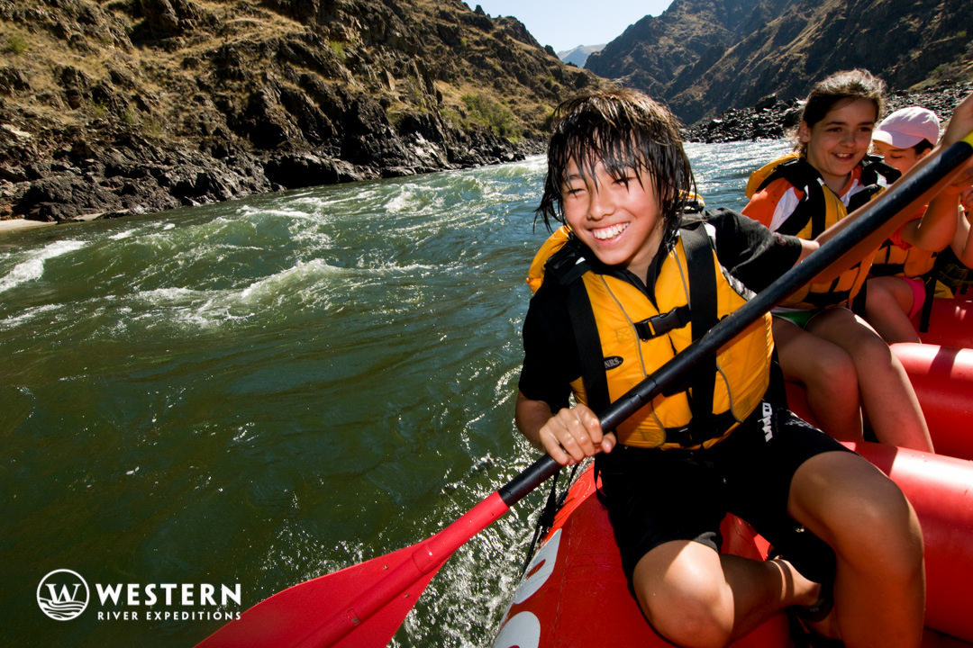 Youth enjoying the Snake River
