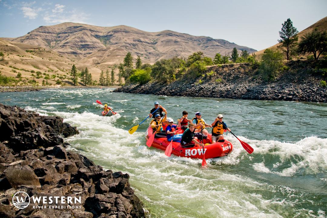 Splashing through the lower Salmon River