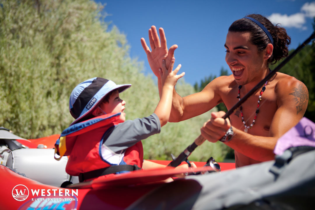 Rogue River Rafting Guide High Five