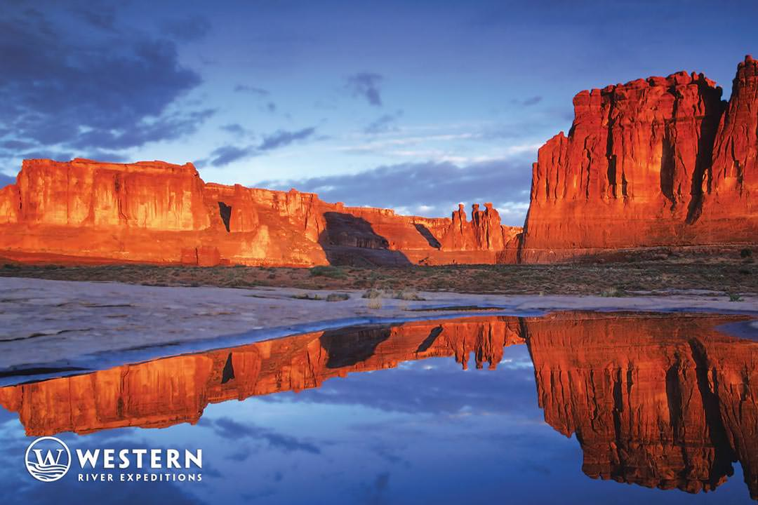 The Three Gossips rock formation in Arches National Park