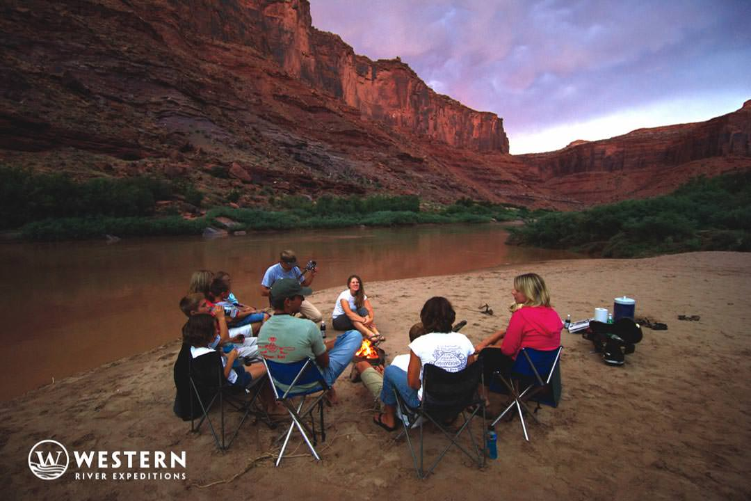 Camping along the Colorado River