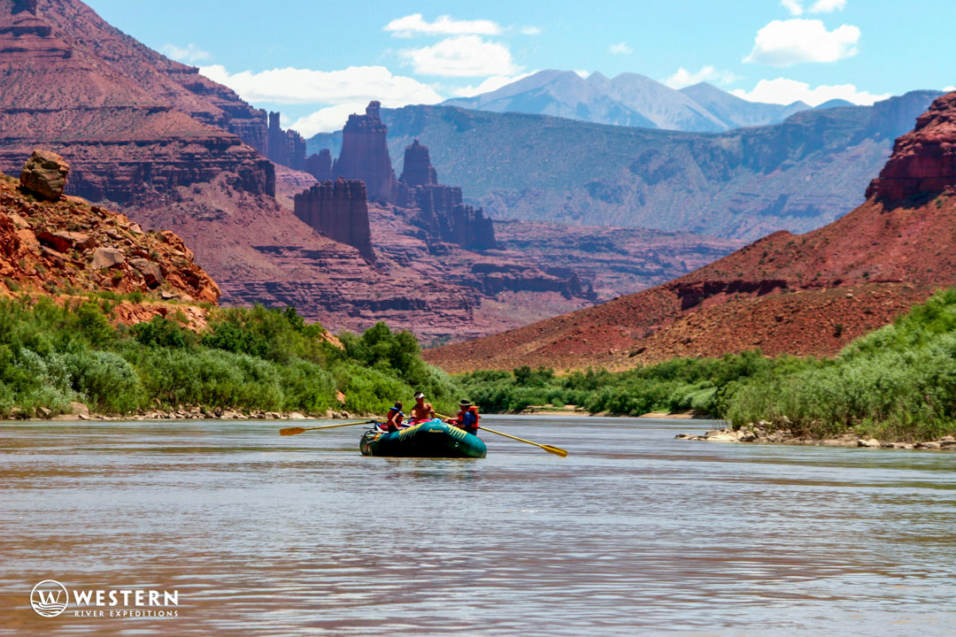 Fisher Towers from the Colorado River
