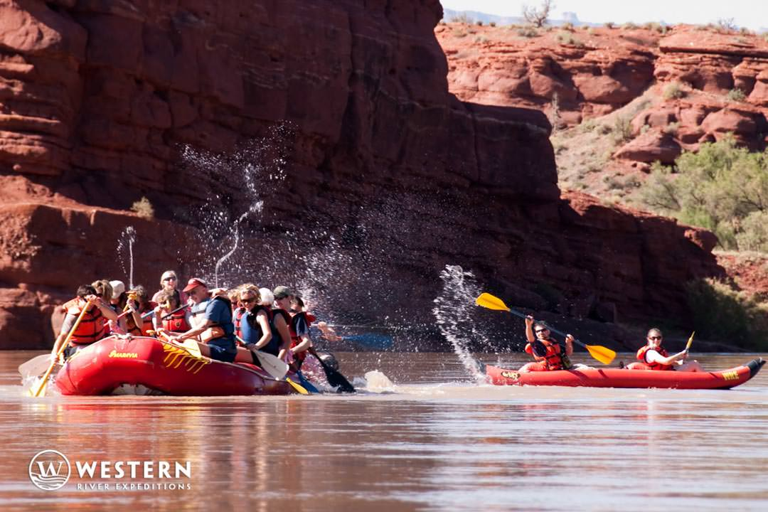 Waterfight on Colorado River