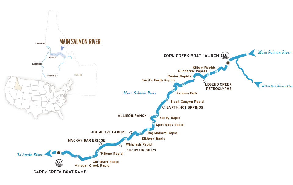 A Map Of The Main Salmon River