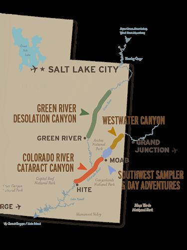 Map of Utah and Moab