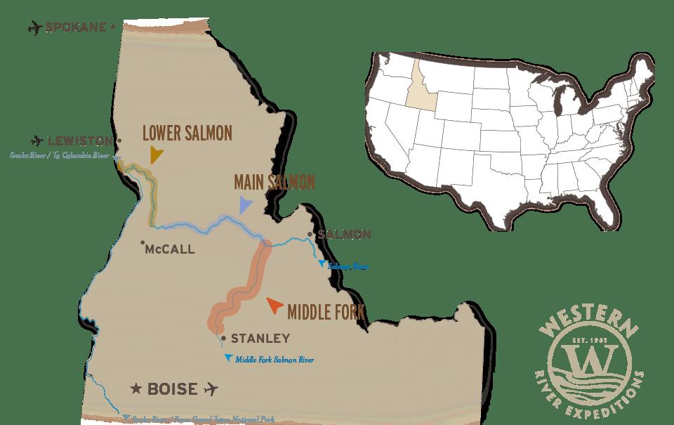 The Salmon River in Idaho
