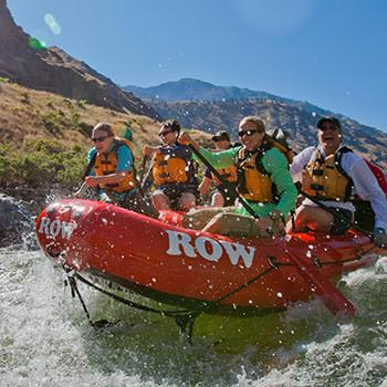 Paddlers on the Snake River