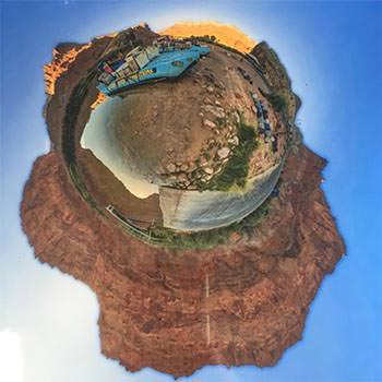Lee's Ferry 360° Photo Sphere in Tiny Planet View