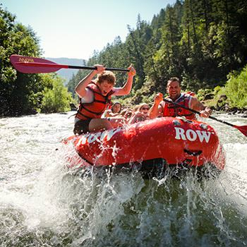 Paddlers on the Rogue River