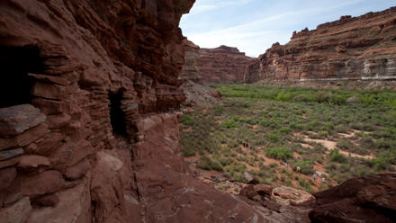 Ancient ruins in Cataract Canyon