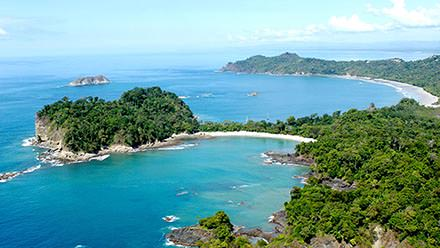 Costa Rica Vacation Package Mauel Antonio Coast Arial