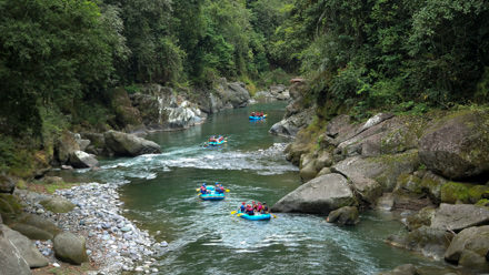 Rafting the Pacuare River in Costa Rica