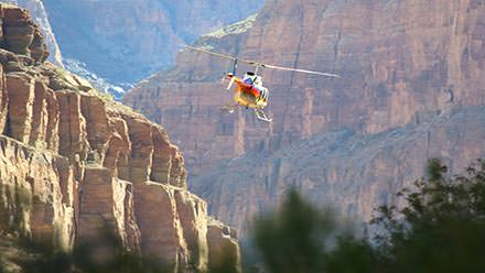 Helicopter tour into Grand Canyon