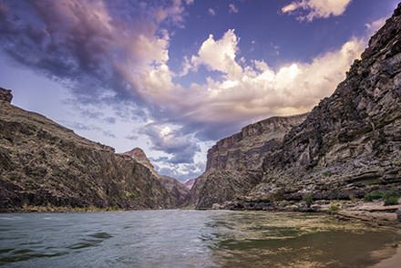Weather conditions on the Colorado River