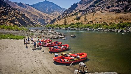Hells Canyon Rafting Beach