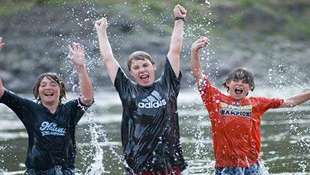 Lower Salmon River Rafting Boys Cheer