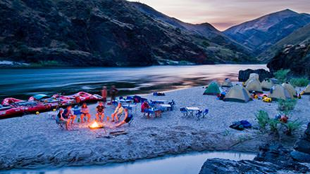 Lower Salmon River Rafting Camp Night