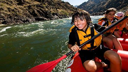 Lower Salmon River Rafting Smile Paddler