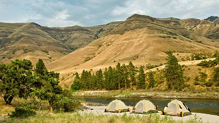 Lower Salmon River Rafting Tents