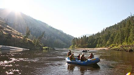 Main Salmon River Rafting Calm