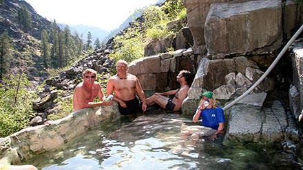 Main Salmon River Rafting Hot Springs
