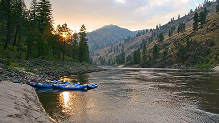 Main Salmon River Rafting Sunset Rafts 2
