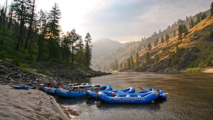 Main Salmon River Rafting Sunset Rafts