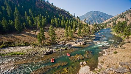 Rafting Middle Fork in Idaho