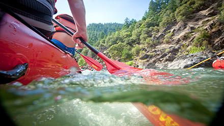 Rogue River Rafting Submerged Paddle