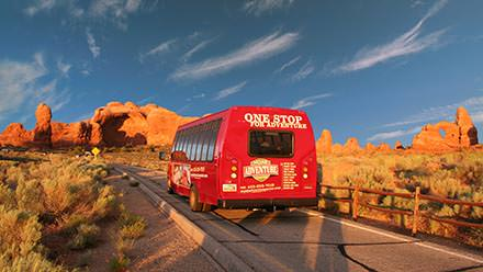 Southwest Vacation Package Arches Bus